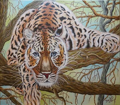Im Sternzeichen Tiger, mein Sternzeichen; 60x 80cm; Acryl auf Leinwand