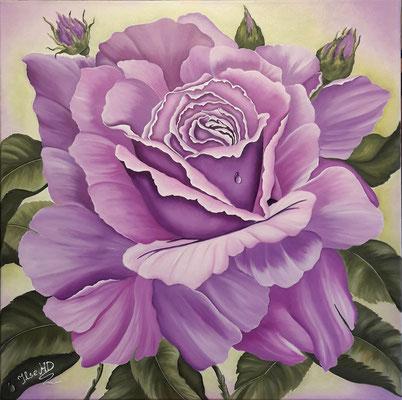 Eine Rose für dich; 70x 70cm; ÖL auf Leinwand