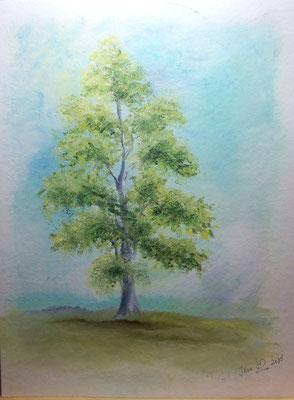 Baum der Hoffnung; 42x 56cm; ÖL auf Aquarellpapier
