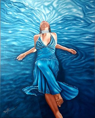 Blue Passion; 100x 80cm; ÖL auf Leinwand