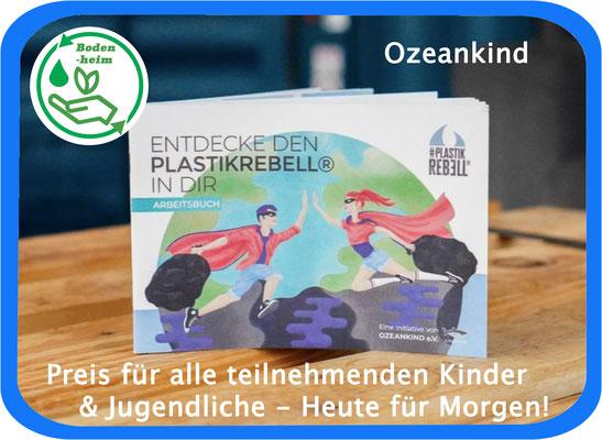 """Alle Kinder haben ein Büchlein """"Entdecke den Plastikrebel in Dir"""" der Initiative Ozeankids"""" gewonnen."""