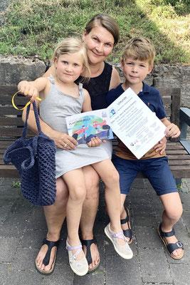 Familienpreis für Familie Kamps - es fehlt: Henri - Danke auch an ihn!
