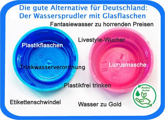 #statement Aktionsbündnis • Unser Leitungswasser ist das am Besten kontrollierte Getränk - Sprudel doch selber - in Glasflaschen!