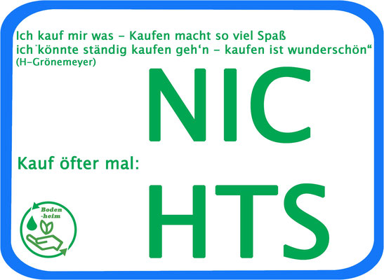 """#statement, Aktionsbündnis """"Kauf einfach mal öfter: nichts!"""""""