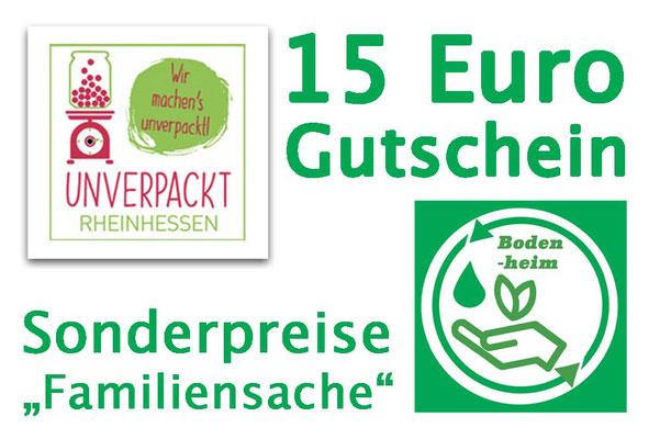 """Familienpreis - 15 € für den """"Unverpackt Laden"""""""