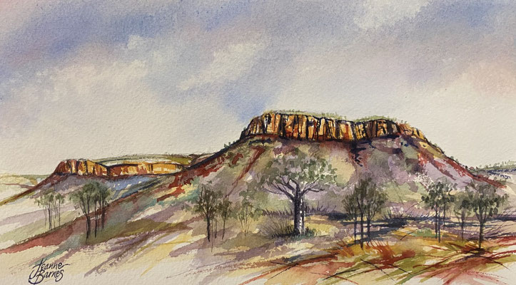 Longing for the Kimberley 15x27cm Watercolour on paper SOLD