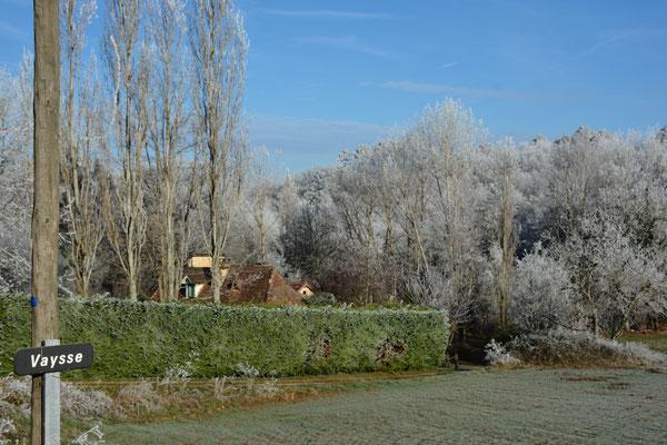 Maar natuurlijk is het -zeker 's nachts- ook regelmatig koud in Vaysse