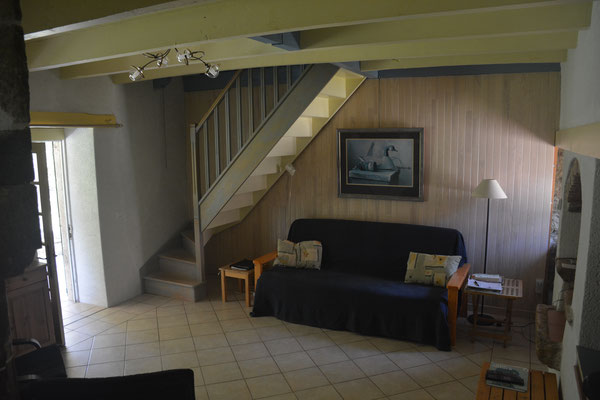 De gezellige woonkamer, met TV (en Wifi door het hele huis).