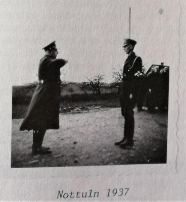 Hermann Rasch bei seiner Ernennung zum Schulungsleiter 1937 in Nottulm, Foto: Archiv Rasch