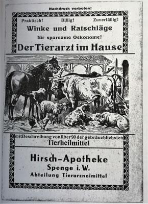 Tierarzneimittel Werbeanzeige, Foto: Archiv Rasch
