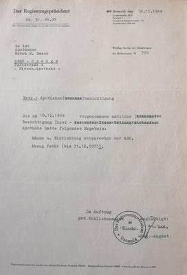 Apothekenbesichtigung 1969, Foto: Archiv Rasch