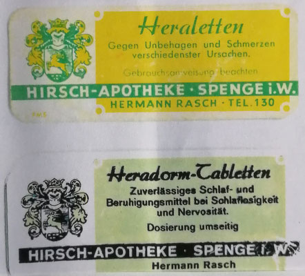 """Werbeaufdruck für die Schlaftabletten """"Heradorm"""", Foto: Archiv Rasch bzw. Groeger-Archiv Spenge"""