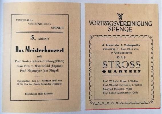 Programme der von Rasch gegründeten Vortragsvereinigung Spenge, Foto: Groeger-Archiv Spenge