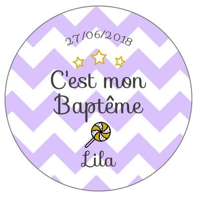 badge baptême