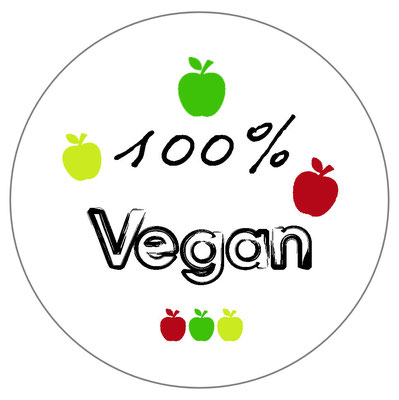 badge 100 pour 100 vegan
