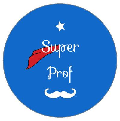 Super Prof badge miroir magnet décapsuleur
