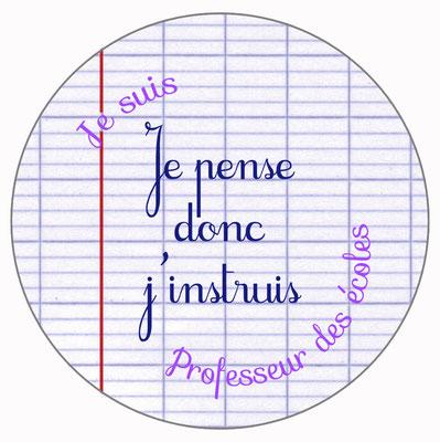 Professeur des écoles badge miroir magnet décapsuleur