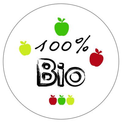 badge 100 pour 100 bio