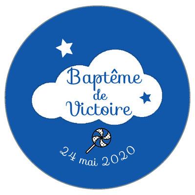 Déco de table baptême -nuage-
