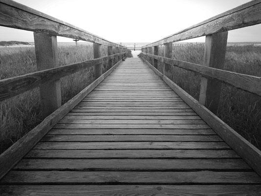 Ein Steg, der ins Meer führt / Ostsee