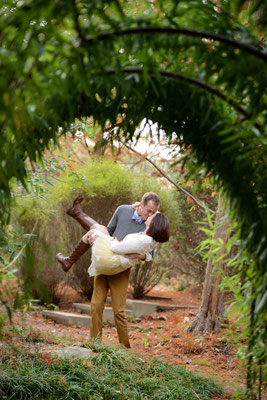 Erin & Glen's Engagement photo at the gardens in Inniswood Botanical Metro Park