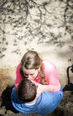 Kathryn and Chase's Engagement Portrait held at Goodale Park, Columbus, Ohio