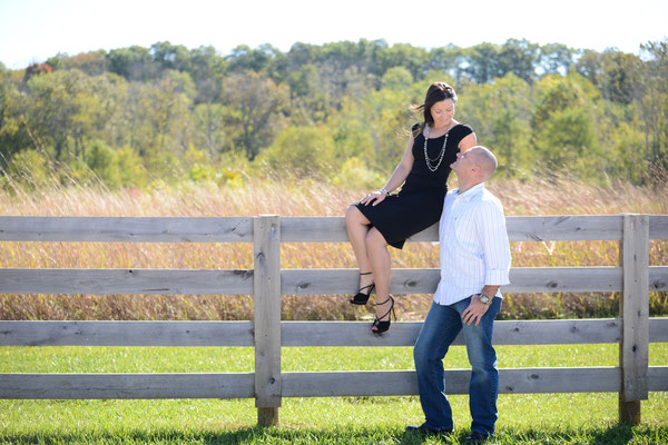 Romantic Engagement Session held at Battelle Darby Creek, Columbus, Ohio