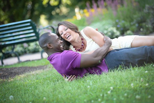 Liz and Ty's Engagement photography Session at Schiller Park. German Village, Ohio