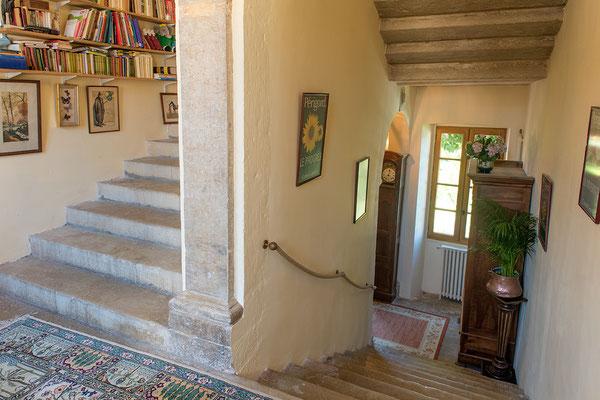 Domaine de Viel Castel, escalier en pierre