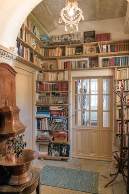 Domaine de Viel Castel, la bibliothèque