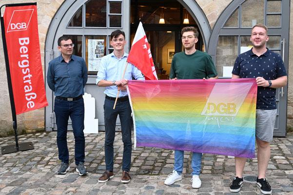 Theo Hoenhorst, Philipp Ofenloch, Florian Dahnke - Sprecher der DGB-Jugend