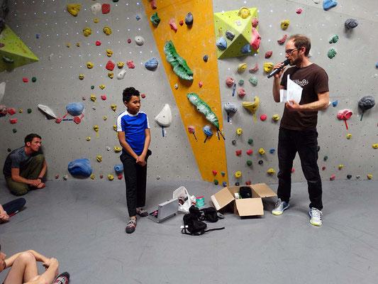 Siegerehrung der Kleinen: Ian wird wieder Dritter! Super!