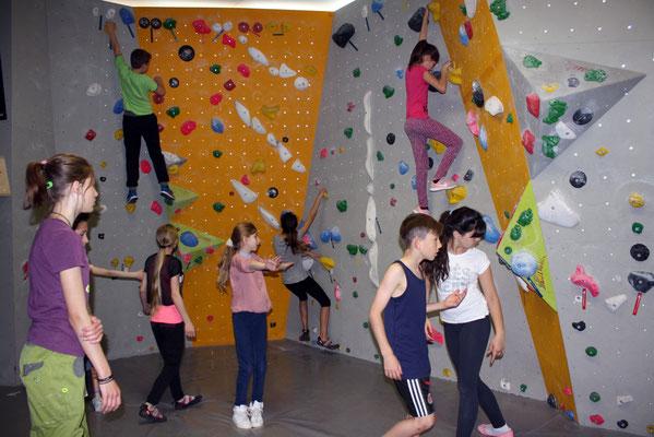 Vorrunde: Klettern mit Laufzettel