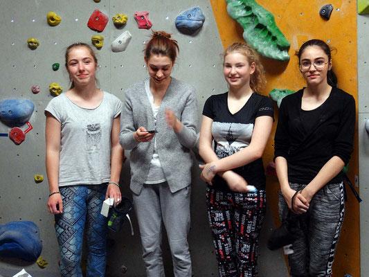 Karla, Madelaine, Michelle und Gaia: Finalistinnen (Mädchen 2001-2004)