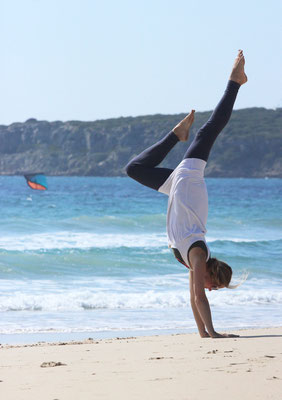Yoga at the beach Tarifa