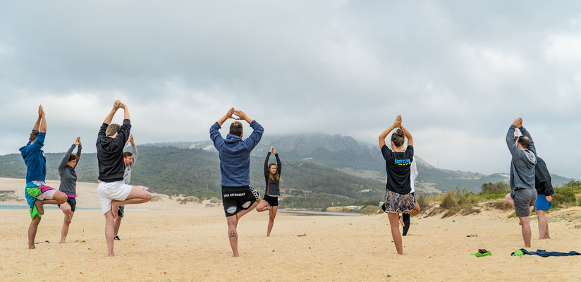 Kitesurf and yoga in Tarifa
