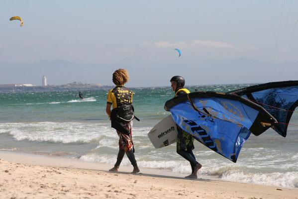 kitesurf lesson in Los Lances Tarifa