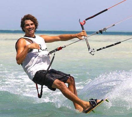 Jerry kiting in el Gouna