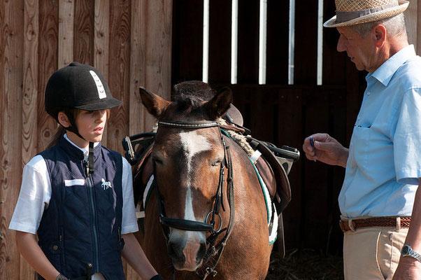 Die Theorie wird am Pferd abgefragt.