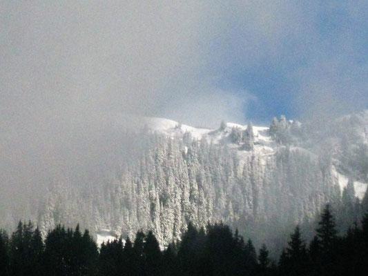 Das Wetter kann in den Bergen von jetzt auf gleich umschlagen