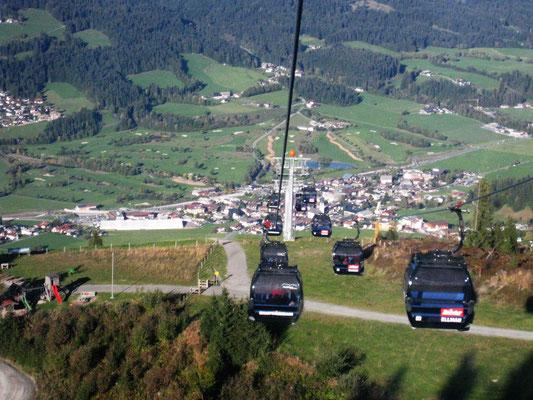 Abfahrt von der Bergstation nach Ellmau  am Wilden Kaiser