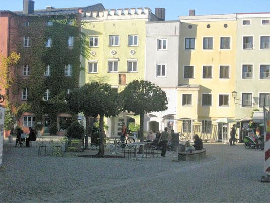Wasserburg am Inn  - Alt-und Neubauten ergänzen sich  im Stadtbild