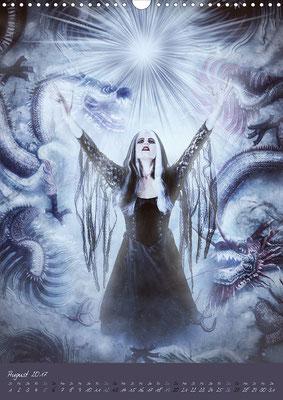 Ravienne Art Model - Kalender Schattenwesen-Die dunkle Seite der Magie