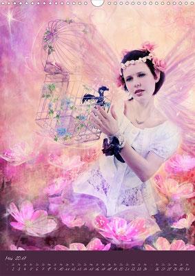 Ravienne Art Model - Kalender Lichtwesen-Die helle Seite der Magie