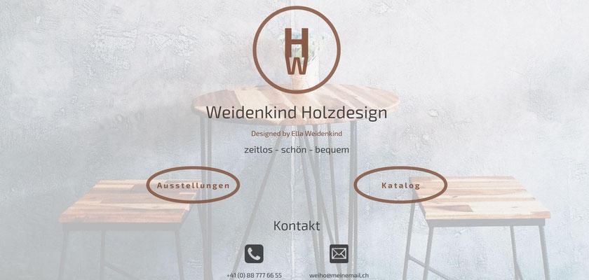 Beispiel-Webseite Kunst_Holzdesign
