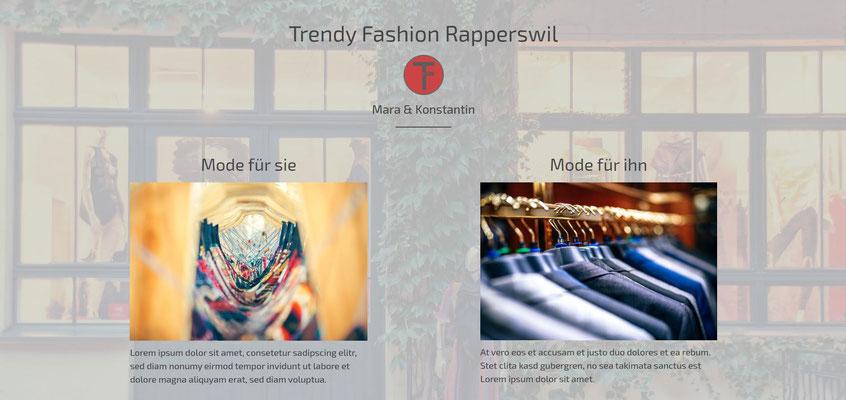 Moderne Internetseiten - Kleiderboutique