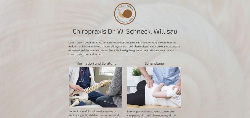 Moderne Internetseiten - Chiropraktik