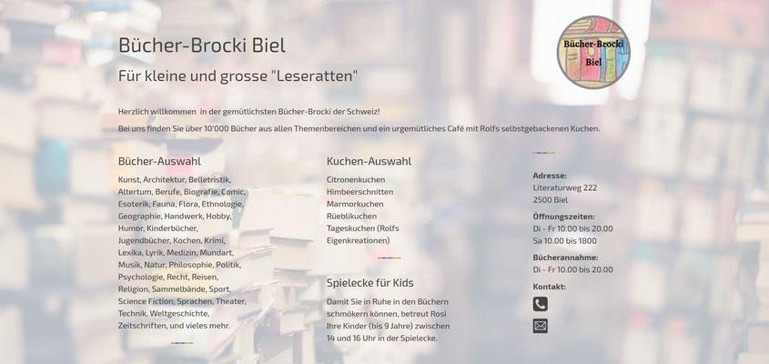 Moderne Internetseiten - Bücher-Brocki