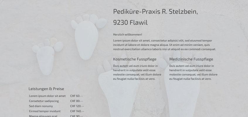 Beispiel-Webseite Pediküre