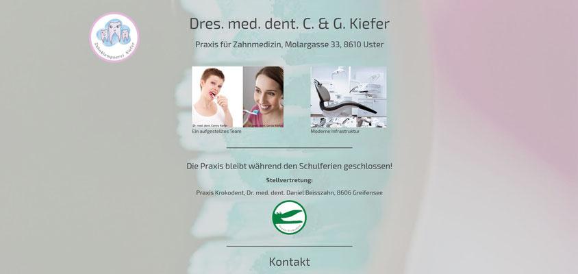 Moderne Internetseiten - Zahnmedizin